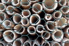 Rohr mit Insektenwohnungen
