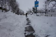 Fußweg freischaufeln