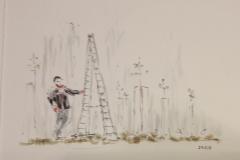 Thomas Engelhard zeichnete seinen Eindruck vom Schnittkurs.