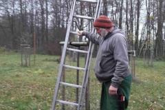 Uwe Arnsberg erläutert die Arbeitssicherheit von Leitern.