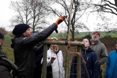 Ingmar erläuterd das Astgerüst des Baumes