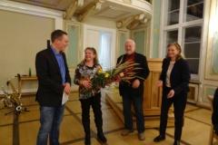 Auszeichnung von Rene Schneider und Berthold Termann für Verdienste im Kulturverein