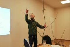 Demonstration des Baumschnitts während der Theorie